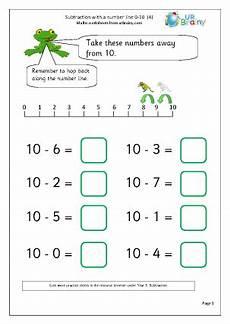 number line subtraction worksheets ks1 subtraction with a number line 4 subtraction maths