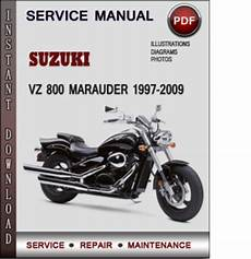 suzuki vz 800 marauder 1997 2009 factory service repair manual down