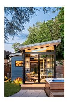 modern glass house open landscaping decorations modern backyard reading shed with skylights and large windows