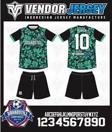 Produksi Bikin Kostum Futsal Warna Hijau Gambar Daun