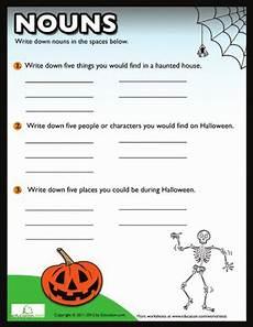 halloween nouns worksheet education com