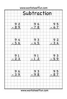 subtraction regrouping worksheets 2 3 4 digits math worksheets math subtraction second