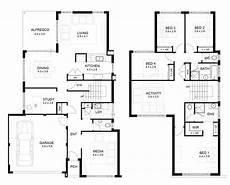 4 bedroom double storey house plans lovely sle floor plans 2 story home new home plans design
