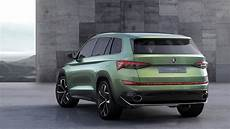 suv skoda new skoda kodiaq suv spied in production guise for the