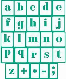 Satz Buchstaben Klein 30 Einzelne Schablonen Hbm