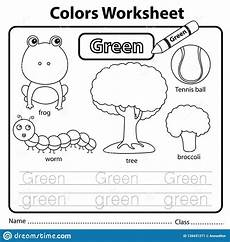 color green worksheets for preschool 12861 illustrator of color worksheet green stock vector illustration of black page 139431271