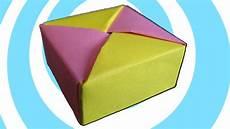schachtel falten anleitung modular origami box with lid tomoko fuse
