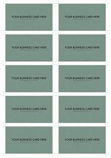 sided business card template for word a4 business card template psd 10 per sheet business