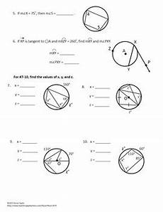 geometry worksheet inscribed angles 754 circles tangents arcs inscribed angles printables practice geometry worksheets