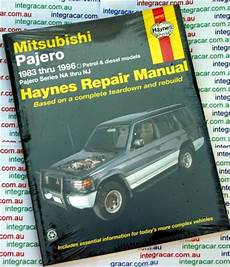 book repair manual 2002 mitsubishi pajero user handbook mitsubishi pajero na nj repair manual 1983 1997 workshop car manuals repair books