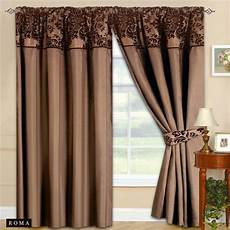 Brown Curtains by New Fully Lined Ready Made Top Curtains Chocolate
