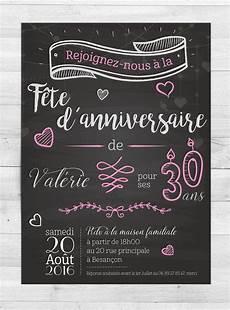 Invitation Anniversaire Romantique Faire Part Par