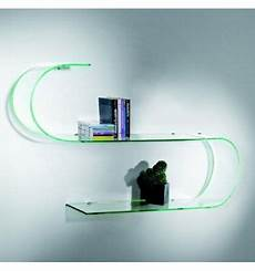mensole in vetro mensole design in vetro trasparente curvato curvo surf