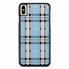 Designer Blue Plaid Iphone X Xs Xr Xs Max