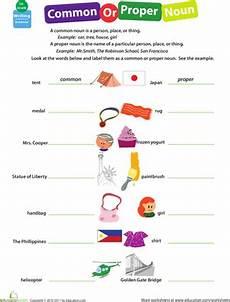 get into grammar common or proper noun worksheet education com