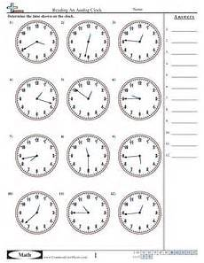 reading time worksheets for grade 2 3168 reading an analog clock 1 minute increments worksheet for 3rd grade lesson planet