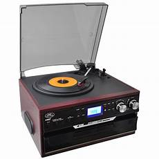 cd cassette player pyle pttcds7u classic vintage turntable with