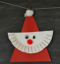Bastelideen Für Kinder Weihnachten - nikolaus basteln dreieck kinder ideen papptelle bart