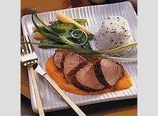 coriander pork tenderloin with carrot ginger sauce_image