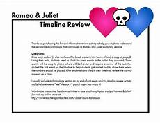 romeo and juliet timeline review worksheet use with shakespeare s play