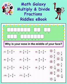 fraction riddle worksheets 4079 math galaxy tutorials k12 math