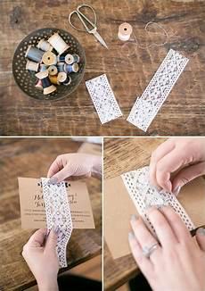 diy wedding invitation wraps dress up your wedding invites lace wrap diy tutorial and tutorials