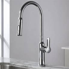kraus kitchen faucet kraus nola single lever pull kitchen faucet reviews wayfair