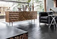 credenze di design credenza in legno con decoro alveare per soggiorno