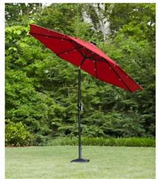 hton bay 9 ft dia octagon solar powered patio umbrella for 89 shipped