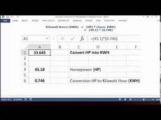 Kilowatt In Watt - convert horsepower hp to kilowatt hours kwh