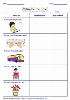 estimation math worksheets 8224 durations hill primary school