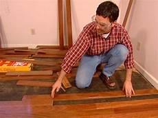 on the floor original how to install a hardwood floor hgtv