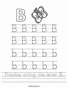 letter b worksheets in 23995 practice writing the letter b worksheet twisty noodle