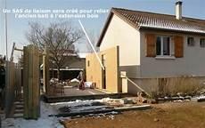 comment faire une extension de maison extension bois avec sas de liaison extension