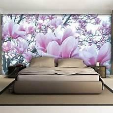 tapeten lila fototapete fototapeten tapeten wandbild blume magnolie