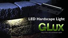 led hardscape light landscape retaining wall light with mortar mounting plate youtube