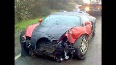 Buggati Veyron Crash bugatti veyron race track crash