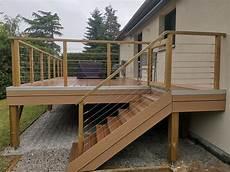 Terrasse En Bois Composite Suspendue Silvadec