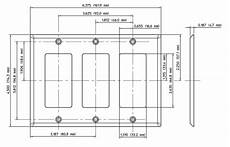 electrical are all rectangular outlets switches and plates the same dimensions and