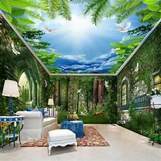 flower wallpaper house beibehang tale forest flower vine house