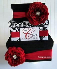 wedding card box wedding card gift card holder black and