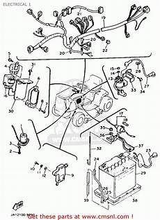 yamaha yt3600n 1989 electrical 1 schematic partsfiche