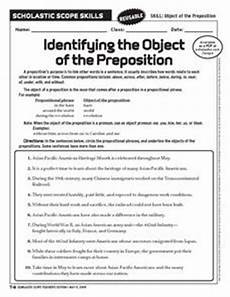 object of preposition worksheets identifying the object of the preposition 6th 10th grade worksheet lesson planet