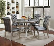 amina silver contemporary dining set