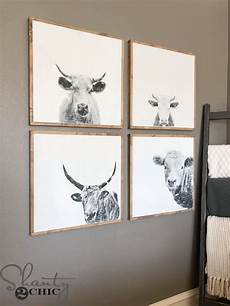 diy cow wall art shanty 2 chic