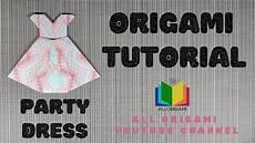 Origami Tutorial Dress Cara Membuat Gaun Pesta
