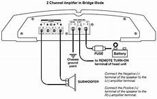 how to bridge an lifier with pictures stereoch