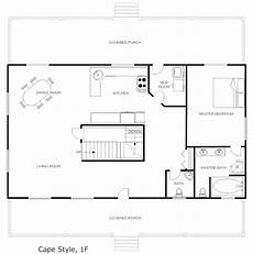 smartdraw house plans exle image house plan cape style floor plan