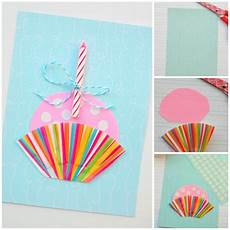 Cupcake Diy Birthday Card Diycandy
