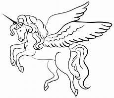 Malvorlagen Wings Unicorn Onlinelabels Clip Winged Unicorn Line